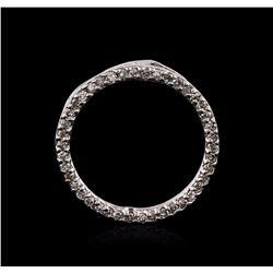 14KT White Gold 0.10 ctw Diamond Pendant