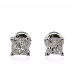 14KT White Gold 1.15 ctw Diamond Solitaire Earrings