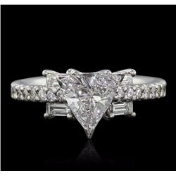 18KT White Gold EGL Certified 1.60 ctw Diamond Ring
