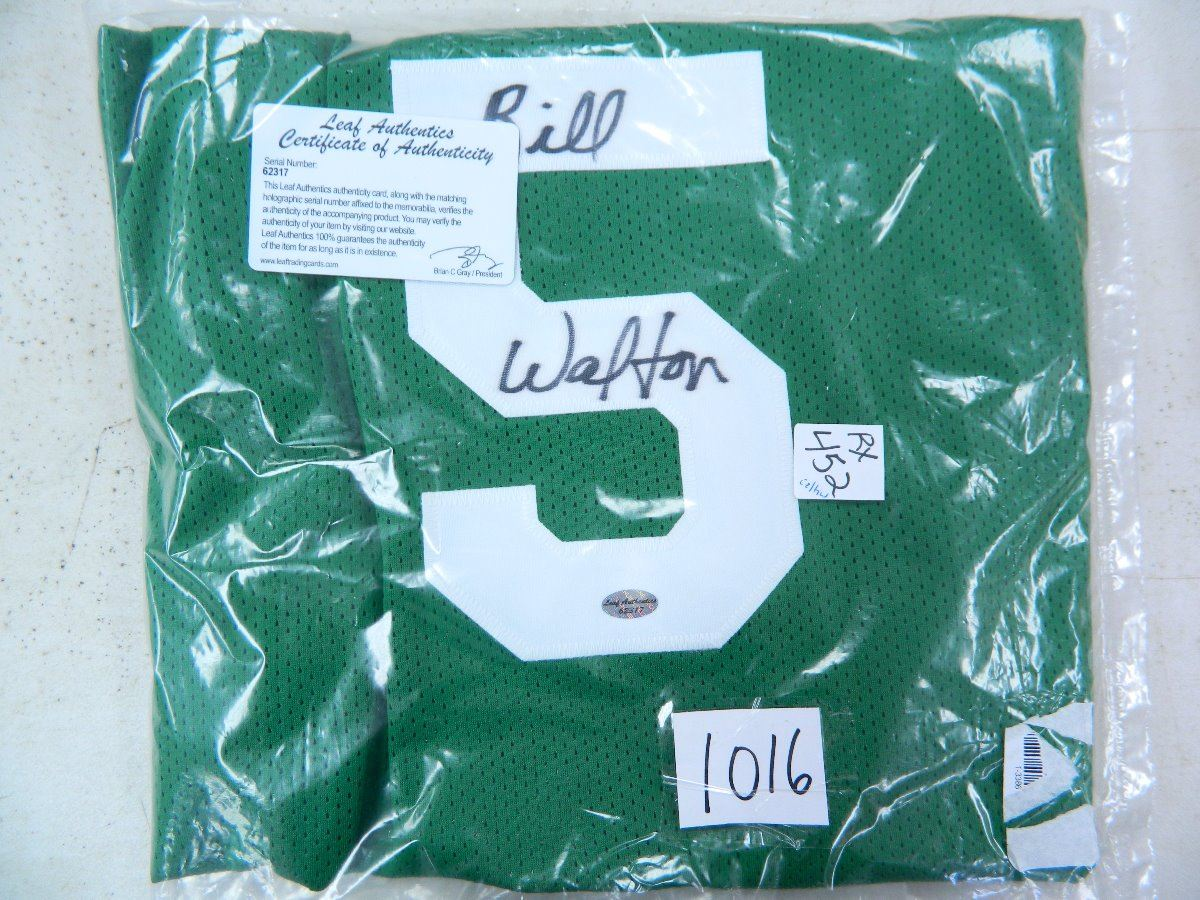 various colors bd846 240dd Bill Walton Signed Celtics Jersey, Leaf Authenticated #62317