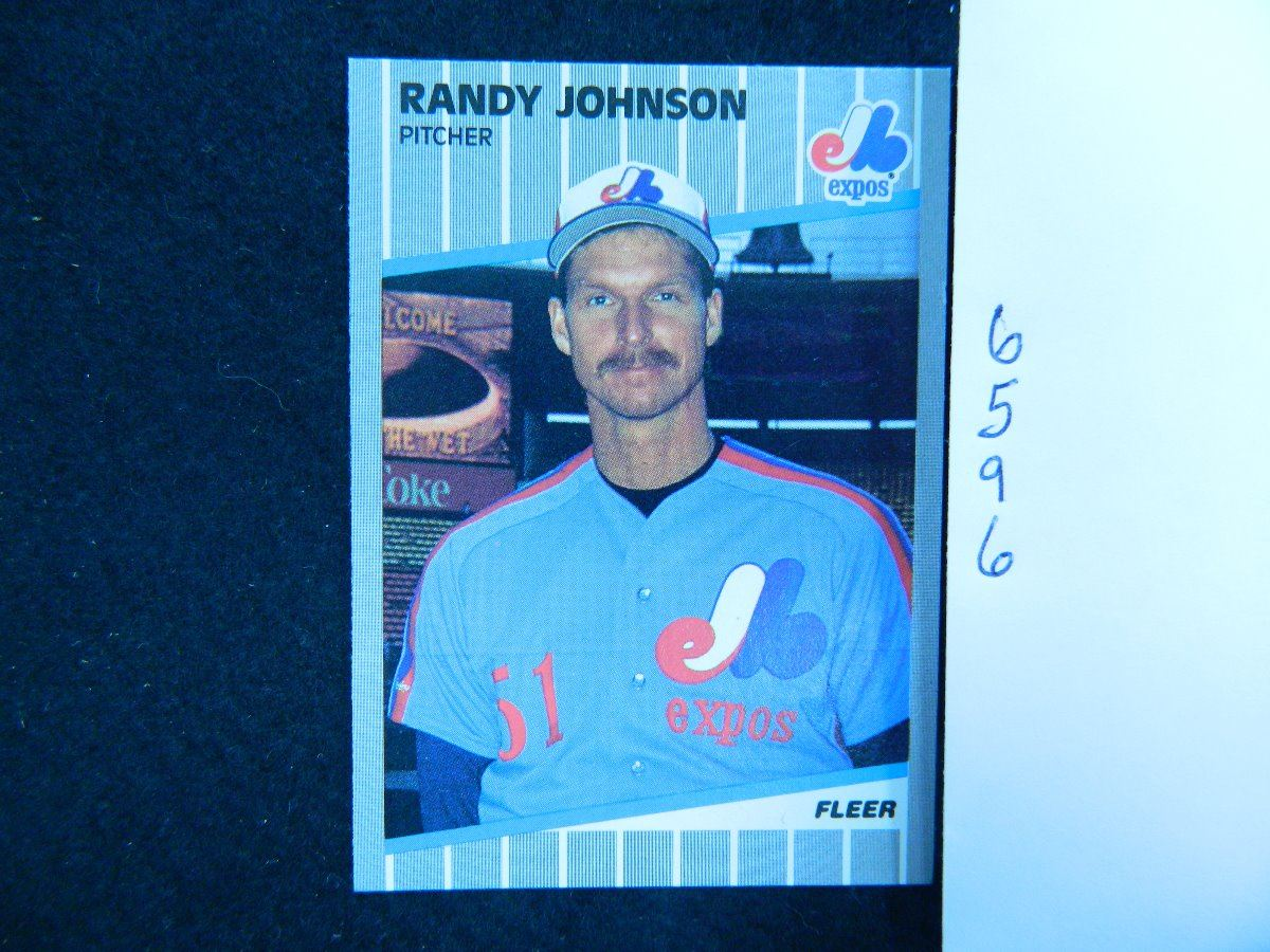 1989 Fleer 381 Randy Johnson Rookie Card