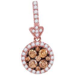 14KT Rose Gold 0.55CTW DIAMOND FASHION PENDANT