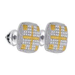 925 Sterling Silver White 0.27CTW DIAMOND MICRO-PAVE EA