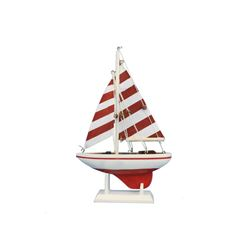 """Hand Made Red Striped Pacific Sailer 9"""""""