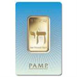 PAMP Suisse 1 Ounce Gold Bar - Am Yisral El Hay