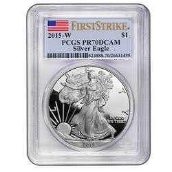 2015-W Proof Silver American Eagle PR-70 PCGS (First St