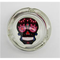 """Black Glass Day of the Dead Ashtray 3"""""""