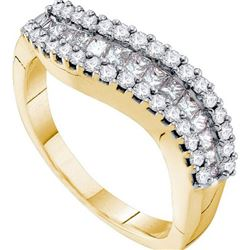 14KT Yellow Gold 0.67CTW DIAMOND INVISIBLE BAND