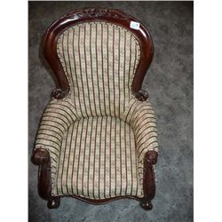 Lovely Upholstered child size lounging chair