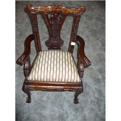 Lovely Upholstered child size arm chair