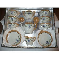 20Pc Set antique childs Tea Set in orig box