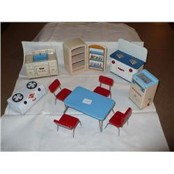 1950's Meatl Doll House Furniture