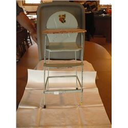 Metal Doll High Chair all complete