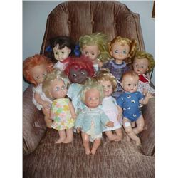 Assorted Plastic Head Dolls (10)