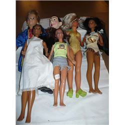 Pocahontas, Peewee Herman ,etc. Dolls (6)