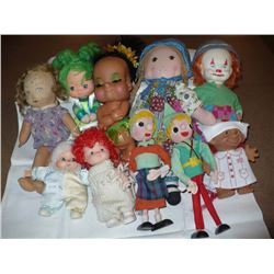Lot of Assorted Dolls (10)