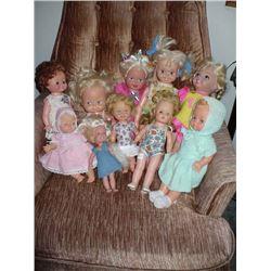 Lot of vinyl /plastic dolls (10)