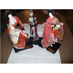 Chinese Dolls on Stands