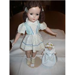 Dee n Cee Composition Doll w/orig outfit 18""