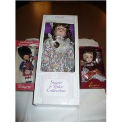 "Sugar & Spice Collection 17"" Cicely, small porcelain doll, Century Collection"