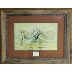 "Framed print ""The Getaway"" by CM Russell"