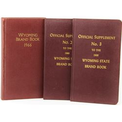 3 Wyoming Brand Books 1966 with No. 2