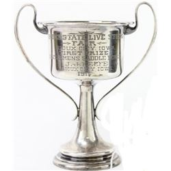 Sterling silver plated trophy dated 1911