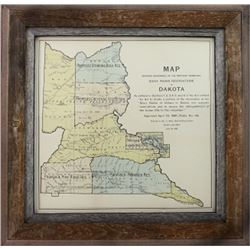 "Antique map ""Sioux Indian Reservations in Dakota"
