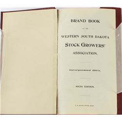 1901 South Dakota brand book by Western
