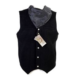 Black wool cowboy vest by Red Sky