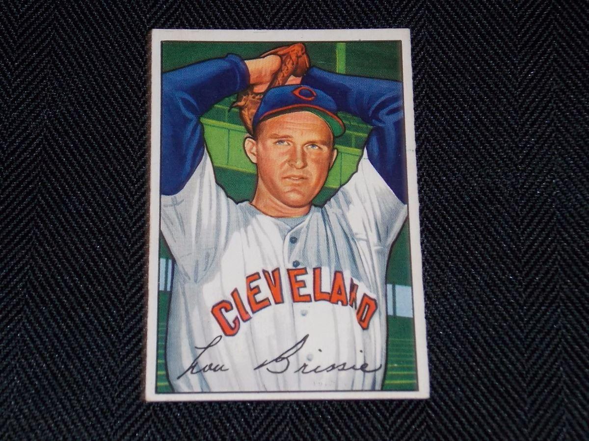 1952 Bowman Lou Brissie Cleveland Indinas