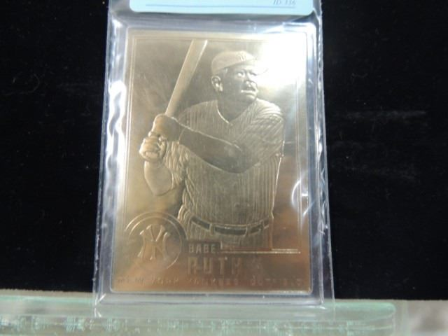 1996 Babe Ruth Gold Plated Baseball Card