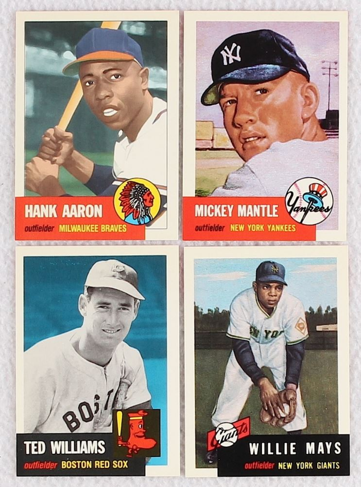 1991 Topps Archives 1953 Partial Set Of 285 Baseball Cards