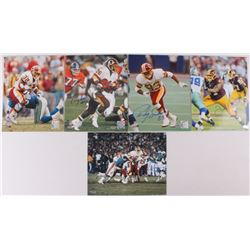Lot of (5) Redskins 8x10 Signed Photos with Ricky Sanders, Timmy Smith, Ricky Ervins, Mike Nelms & T