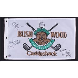 "Chevy Chase, Cindy Morgan & Michael O'Keefe Signed Bushwood Coutry Club ""Caddyshack"" Golf Flag (PSA"