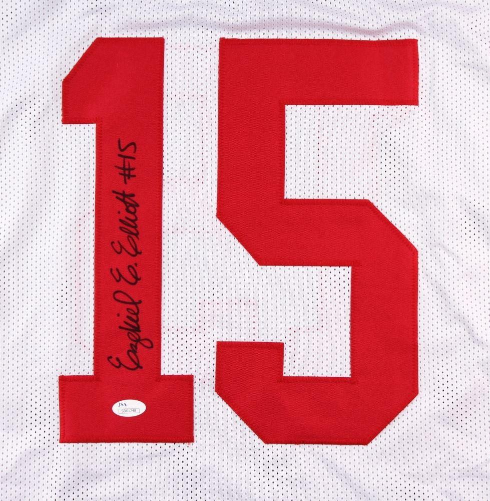 new styles 03dd8 e625a Ezekiel Elliott Signed Ohio State Jersey (JSA COA)