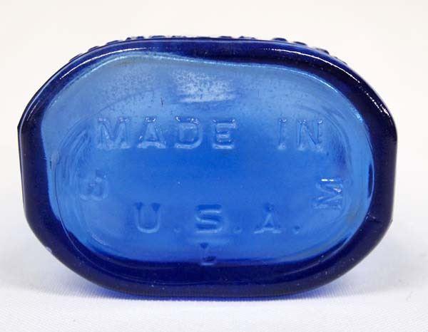 Antique Cobalt Blue Glass Milk of Magnesia Bottle