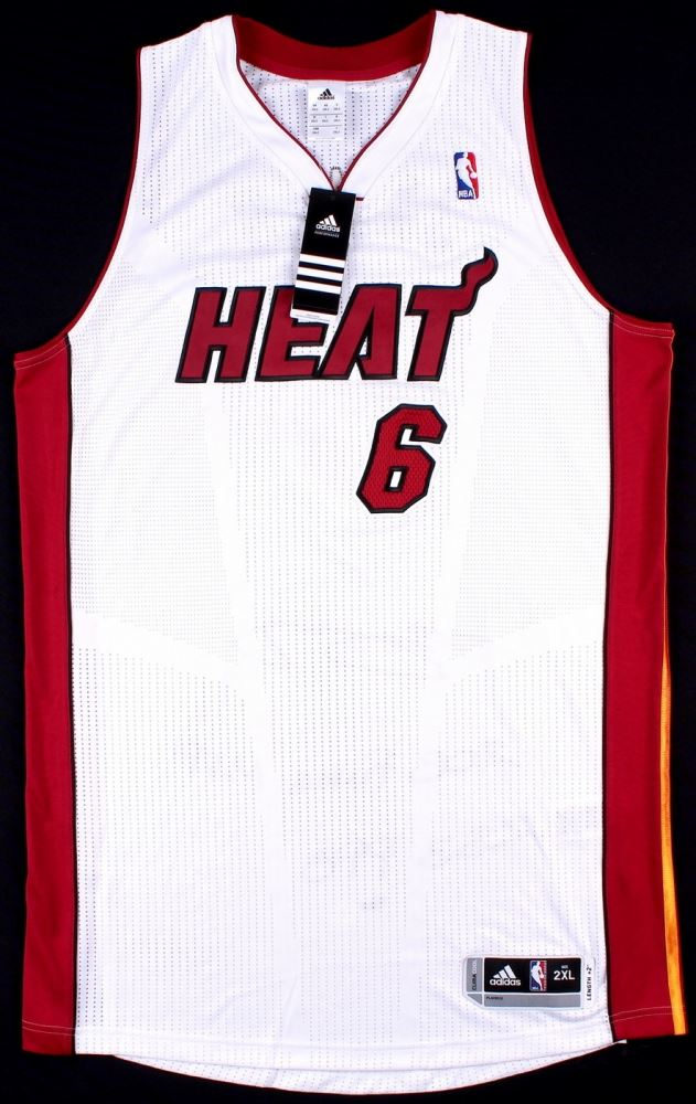 huge discount 99aa2 822f2 LeBron James Signed Miami Heat Authentic On-Court Jersey ...