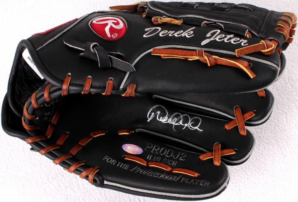 Derek Jeter Signed Rawlings Full Size Pro Model Baseball Glove Steiner Coa