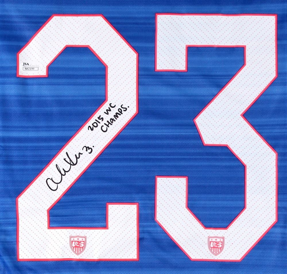 best sneakers 460a0 12a18 Christen Press Signed Team USA Jersey Inscribed