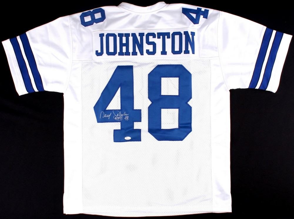 4149f2cfe Image 1 : Daryl Johnston Signed Cowboys Jersey Inscribed