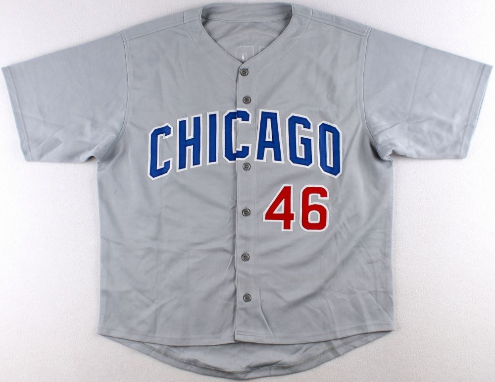 wholesale dealer 70f6a ddeb8 Pedro Strop Signed Cubs Jersey (Schwartz COA)
