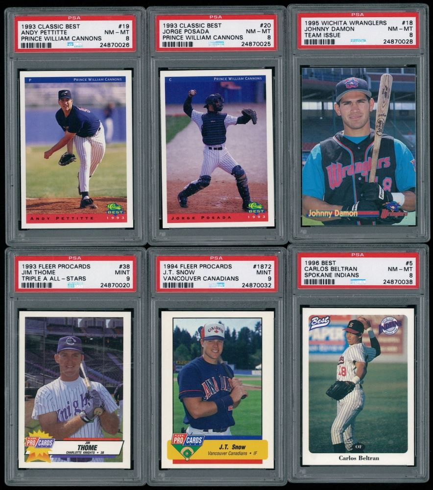Lot Of 6 Psa Graded Baseball Cards With 1995 Wichita