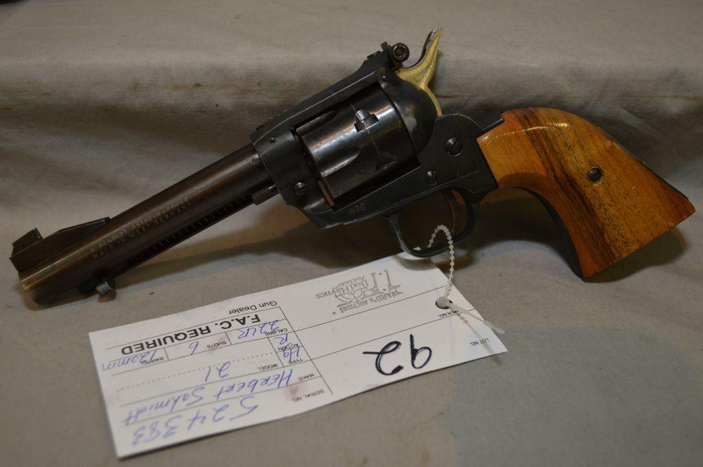 Herbert Schmidt Model 21  22 LR cal 6 Shot Revolver w/ 120 mm bbl