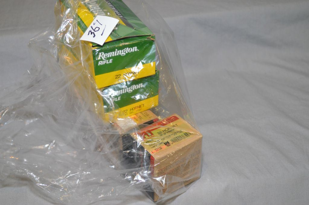 Bag Lot : 3 Boxes ( 25 rnds per ) Hornady  22 Hornet 35 Grain Ammo