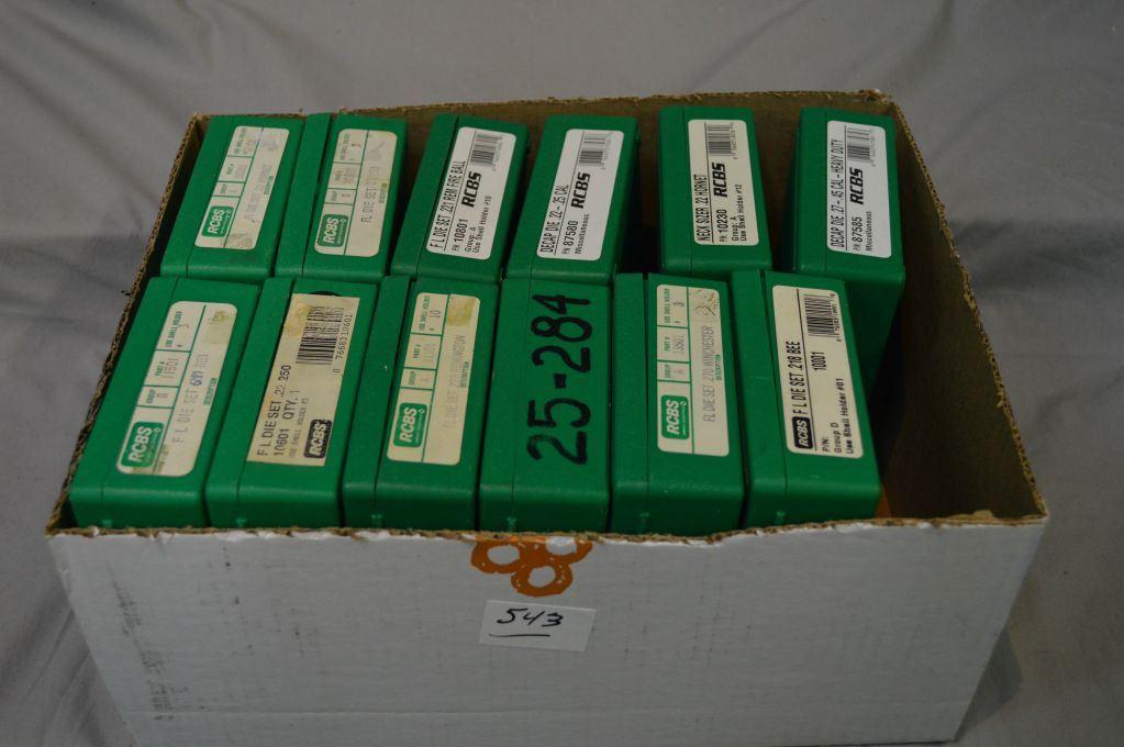 Box Lot : RCBS Reloading Dies : 6 Three Die Sets [  218 Bee