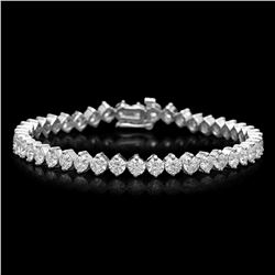 14K Gold 9.94ct Diamond Bracelet