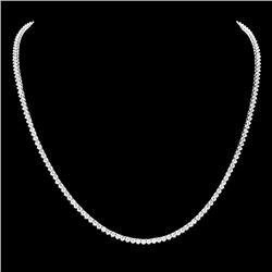 18k White Gold 7.60ct Diamond Necklace