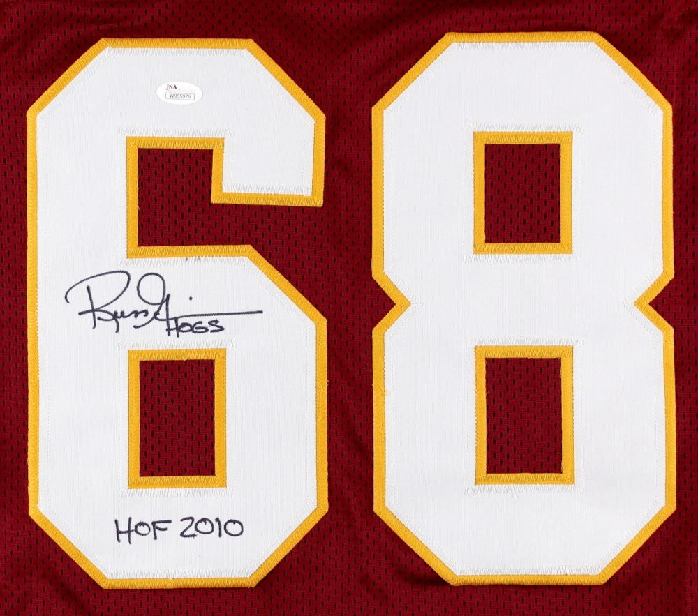 buy popular 8a00a 9cb96 Russ Grimm Signed Redskins Jersey Inscribed