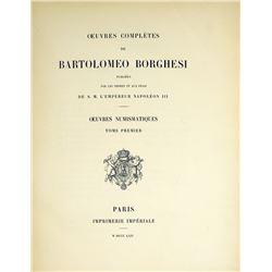 Rare Numismatic Oeuvres of Bartolomeo Borghesi
